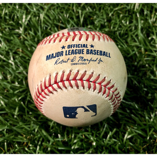 Photo of Game Used Baseball: Chaz Roe strikes out Luke Voit - Chaz Roe's 2nd Win of 2020 - August 7, 2020 v NYY