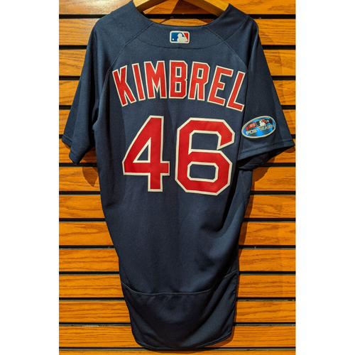 Craig Kimbrel #46 Game Used Road Alternate Navy Jersey