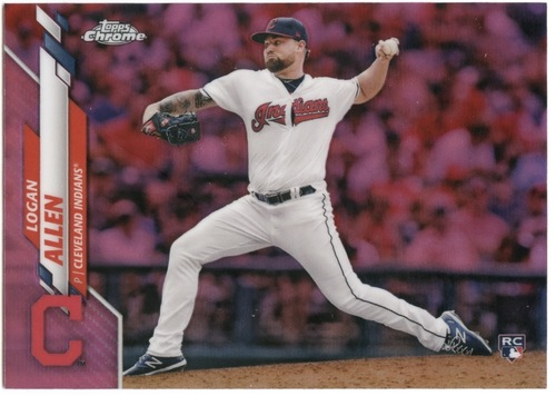Photo of 2020 Topps Chrome Pink Refractors #155 Logan Allen