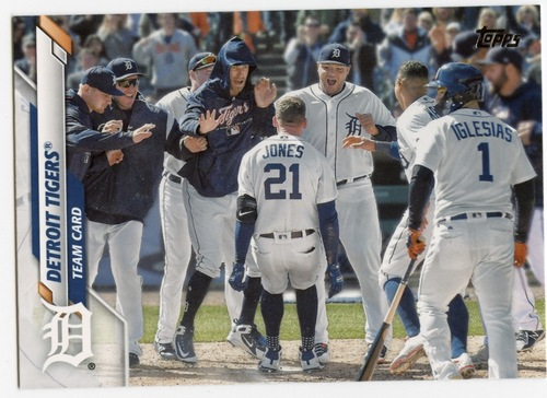 Photo of 2020 Topps #625 Detroit Tigers TC