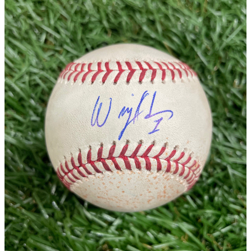 Photo of Rays Baseball Foundation: Game Used Autographed Baseball - Willy Adames Rookie Season - September 30, 2018 v TOR