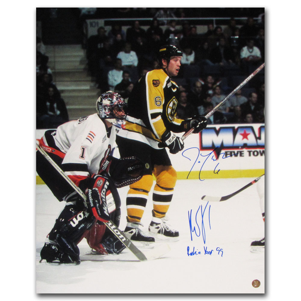 Roberto Luongo Joe Thornton Autographed 16x20 Photo W Rookie Year