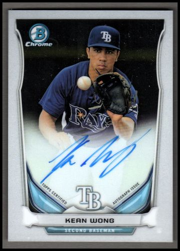 Photo of 2014 Bowman Chrome Prospect Autographs #BCAPKW Kean Wong