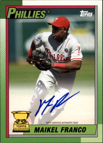 Photo of 2015 Topps Archives '90 All Star Rookie Autograph Maikel Franco RC AUTO 62/199