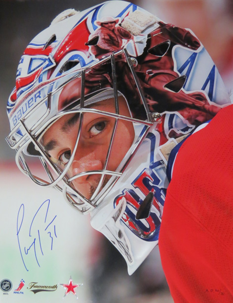 Carey Price Signed 8x10 Profile (Montreal Canadiens)