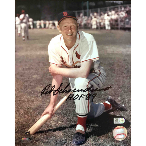 Cardinals Authentics: Red Schoendienst Autographed Photo