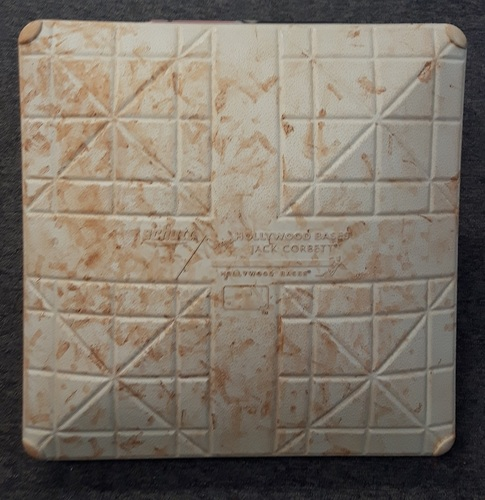 Photo of Authenticated Game Used Base - September 11, 2016 vs BOS. David Ortiz's last game in Toronto. Ortiz hit an HR in the 6th Inning. 2nd Base for Innings 4 to 6.