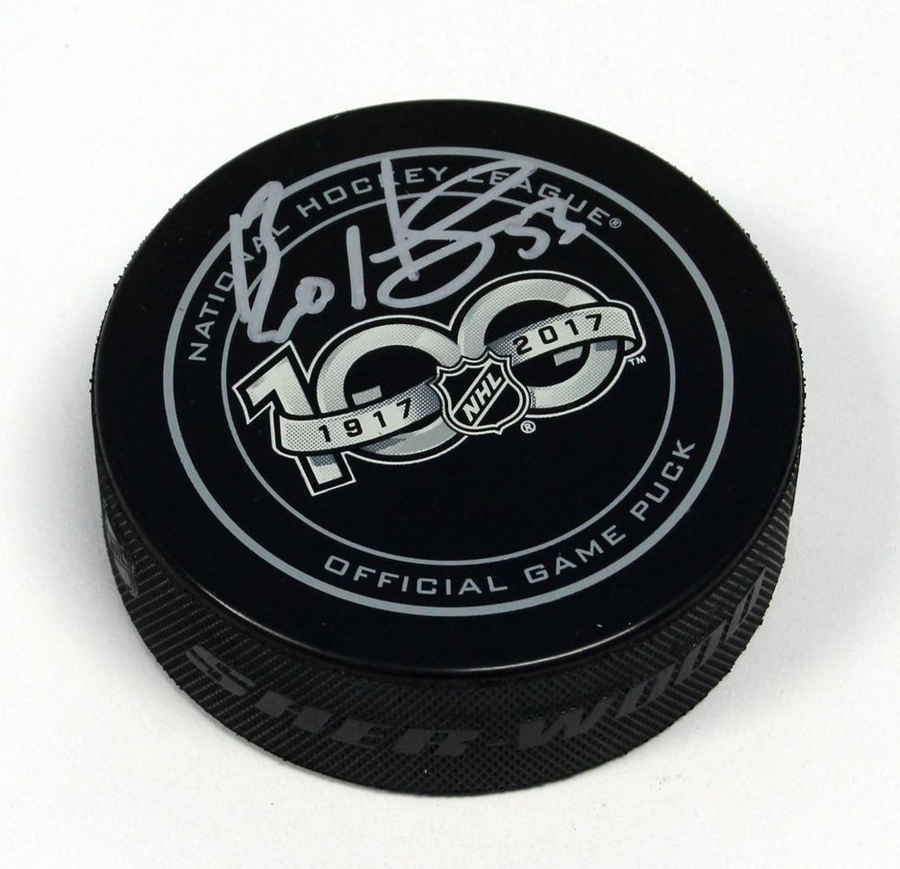 Bo Horvat NHL Centennial Season Autographed 100 Years Official Game Puck *Vancouver Canucks*