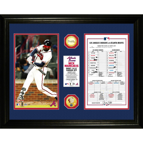 Photo of Holiday Deal of the Day: Nick Markakis 2,000th Career Hit Frame - Today Only: $99