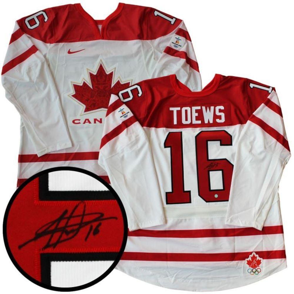 Jonathan Toews - Signed PRO Jersey Canada Olympic White 2011
