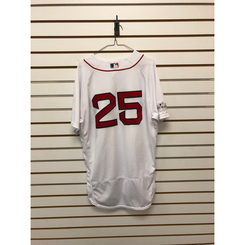 Photo of Rajai Davis Game-Used ALDS Game 3 October 1, 2017 Home Jersey