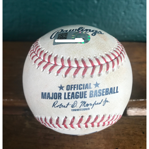Photo of Cardinals Authentics: Game-Used Baseball Pitched by Jordan Hicks to Cesar Hernandez & Rhys Hoskins *Walk 101.7 MPH, Double Play 100.3 MPH*