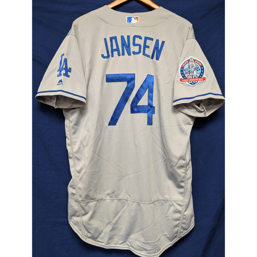 Photo of Kershaw's Challenge: Kenley Jansen Game-Used Road Jersey (Earned the Save) - 5/19/18