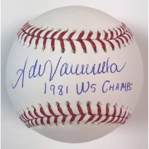 "Photo of Fernando Valenzuela Autographed ""1981 WS Champs"" Baseball"