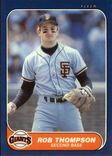 Photo of 1986 Fleer Update #115 Robby Thompson XRC