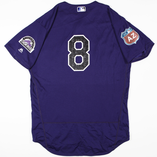 Photo of 2016 Spring Training - Spring Training Game Used Jersey - Gerardo Parra (Rockies)- Size- 46