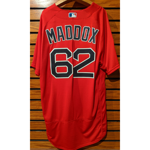Austin Maddox #62 2019 Spring Training Team Issued Red Jersey