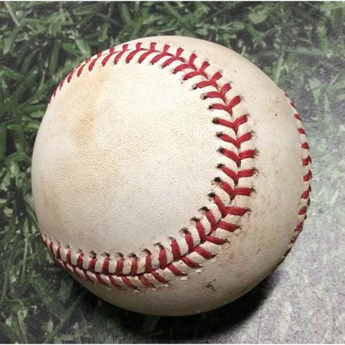Photo of Game-Used Baseball STL@MIL 08/27/19 - Matt Albers - Kolten Wong: RBI Double