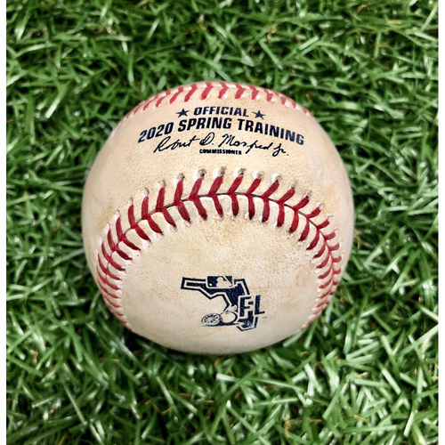 Photo of Game Used Spring Training Baseball: Tyler Glasnow strikes out Cameron Maybin - February 27, 2020 v DET