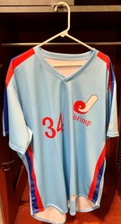Photo of Jacksonville Expos Fauxback Jersey #34 Size 48