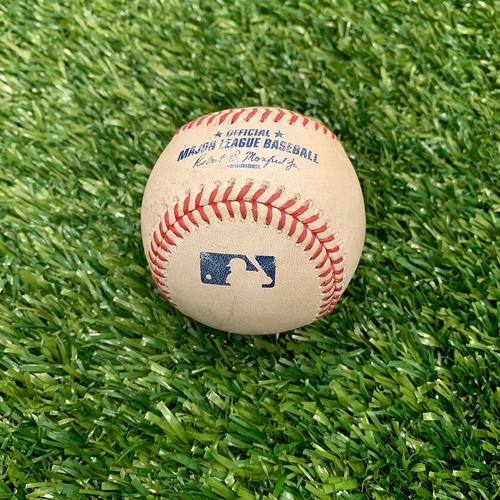 Photo of Minnesota Twins: 2015 Game-used Baseball - P: Kevin Jepsen, H: Torii Hunter Single, Bottom 7 - 5/16/2015 vs Tampa Bay Rays