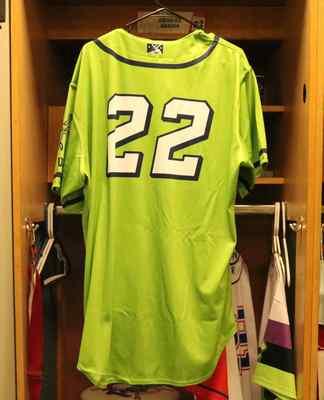 Stockton Ports Edward Baram Asparagus jersey, #22, Size 48
