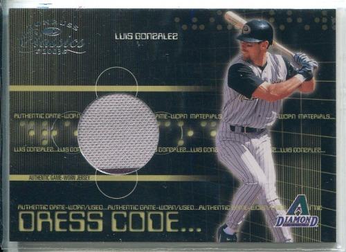Photo of 2003 Donruss Classics Dress Code #21 Luis Gonzalez Jsy/500