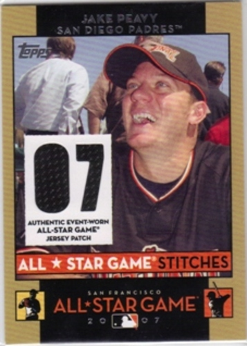 Photo of 2007 Topps Update All-Star Stitches #JEP Jake Peavy