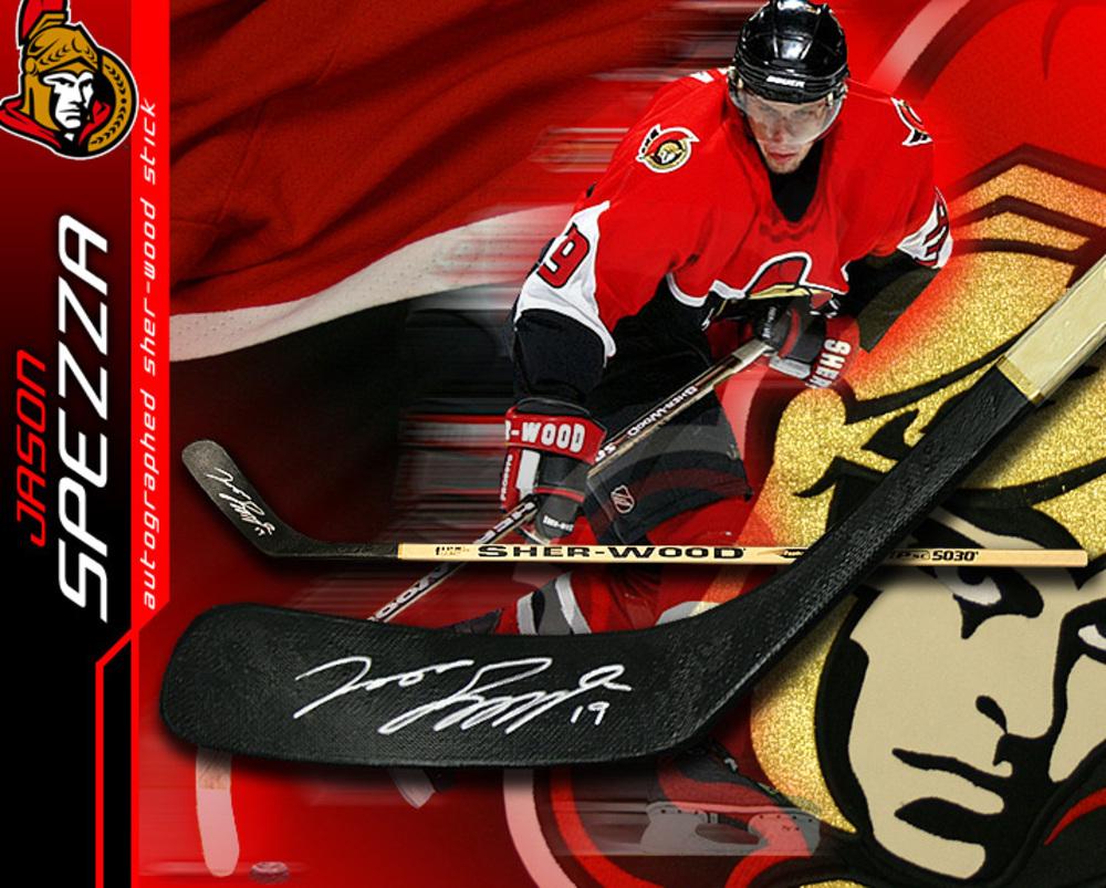 JASON SPEZZA Signed Sher-wood Stick - Ottawa Senators
