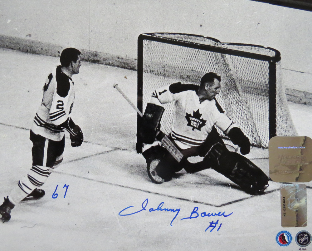 Johnny Bower autographed 8x10
