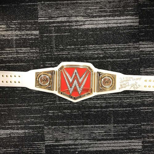 Alexa Bliss SIGNED WWE RAW Women's Championship Replica Title (RAW - 08/28/17)