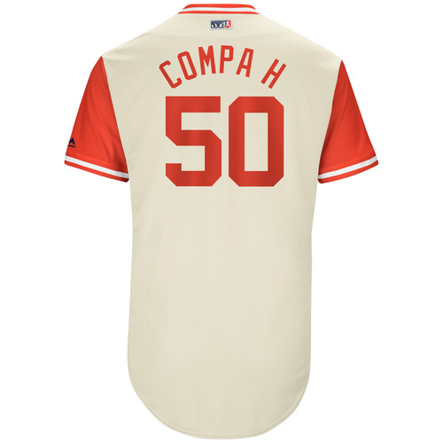 "Photo of Hector ""Compa N"" Neris Philadelphia Phillies Game-Used Players Weekend Jersey"