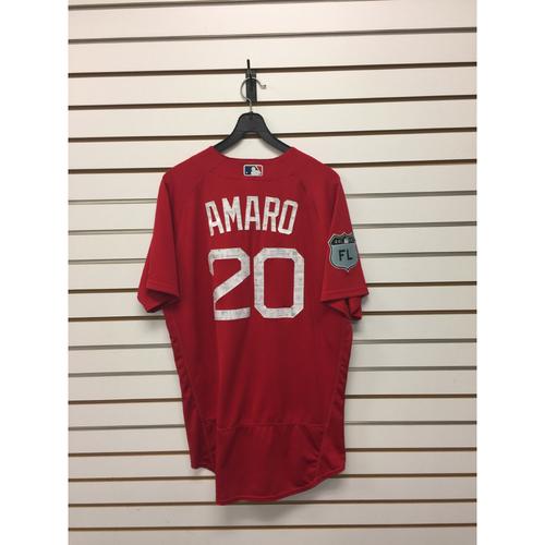 Ruben Amaro Team-Issued Spring Training Jersey