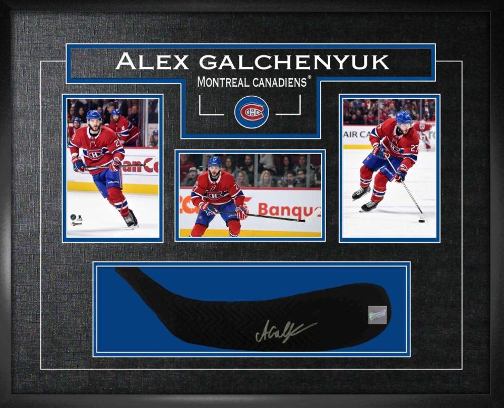 Alex Galchenyuk - Signed Stickblade Canadiens w/3-4x6 Photos