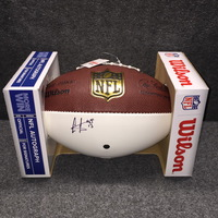 AUAF - VIKINGS CRIS CARTER SIGNED HALL OF FAME LOGO PANEL BALL