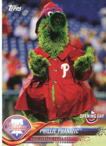 Photo of 2018 Topps Opening Day Mascots #M18 Phillie Phanatic