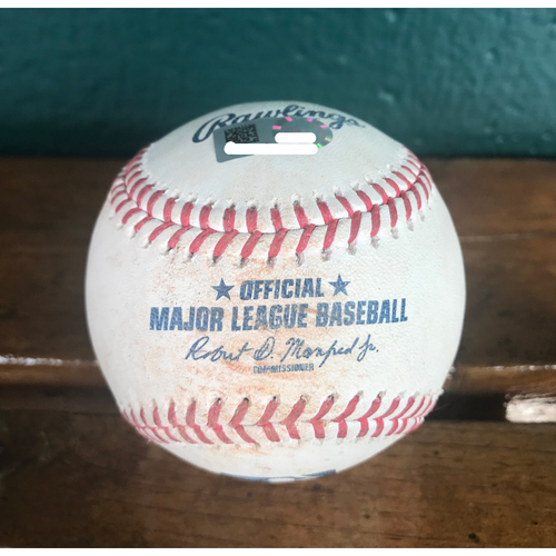 Photo of Cardinals Authentics: Game-Used Baseball Pitched by Jordan Hicks to Cesar Hernandez *Strike 99 MPH, Ball 100.1 MPH, Foul 99.3 MPH
