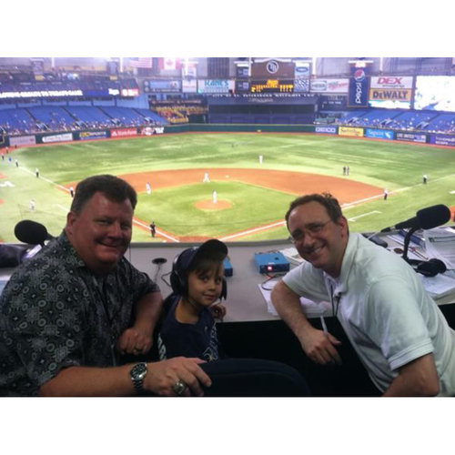 Photo of 2018 Tampa Bay Rays Radio Booth Experience at Tropicana Field