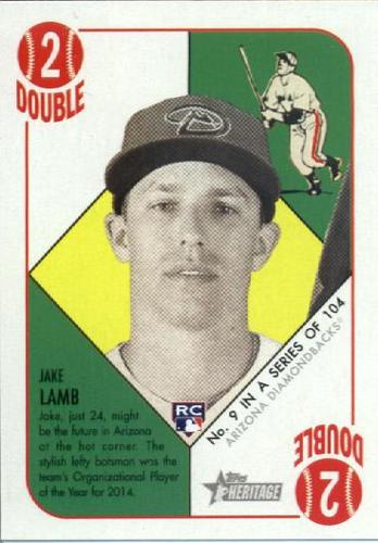 Photo of 2015 Topps Heritage '51 Collection #9 Jake Lamb Rookie Card