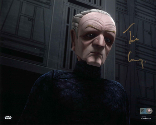 Tim Curry As Supreme Chancellor Palpatine 8X10 Autographed In 'GOLD' INK PHOTO
