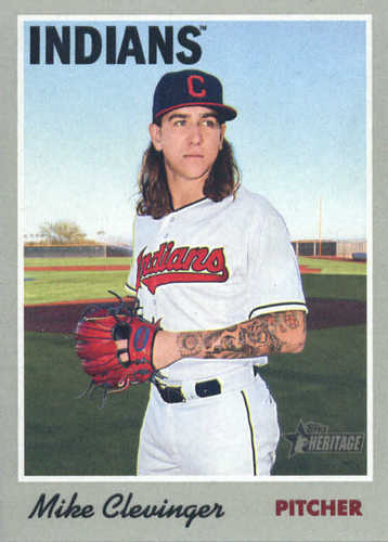 Photo of 2019 Topps Heritage #59 Mike Clevinger