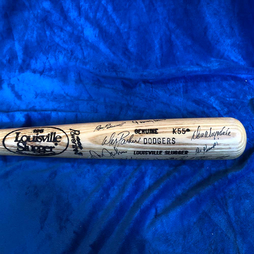 Photo of UMPS CARE AUCTION: Baseball Bat Signed by Dodgers Greats