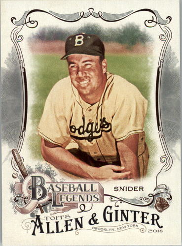 Photo of 2016 Topps Allen and Ginter Baseball Legends #BL6 Duke Snider