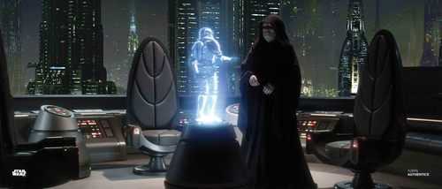 Supreme Chancellor Palpatine and Commander Cody