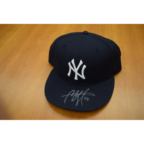 Photo of CC Sabathia New York Yankees Autographed Clubhouse Issued Cap (NOT MLB Authenticated)