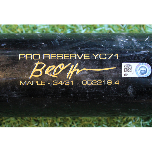 Photo of Game-Used Broken Bat: Ryan O'Hearn Ground Out (DET @ KC - 9/4/19)