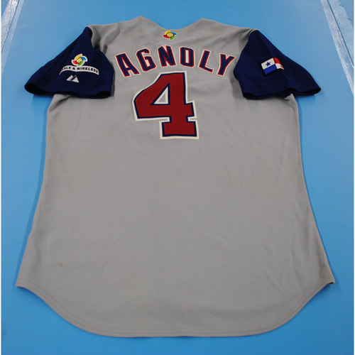 Photo of 2006 Inaugural World Baseball Classic: Earl Agnoly Game-worn Team Panama Road Jersey