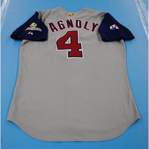 Photo of 2006 Inaugural World Baseball Classic: Earl Agnoly Game-worn Team Panama Road Jersey