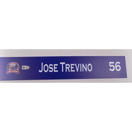 Photo of Game-Used Locker Tag - Jose Trevino