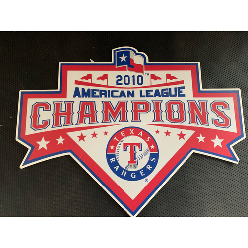 Photo of 2010 A.L. Champions Displayed in Tunnel Leading From Home Clubhouse to Home Dugout at Globe Life Park - First Pennant in Team History